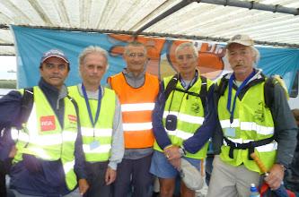 Photo: Ikzelf, Dirk, Adriaan, Serge en Jean-Paul, vijf van de 13 Belgen