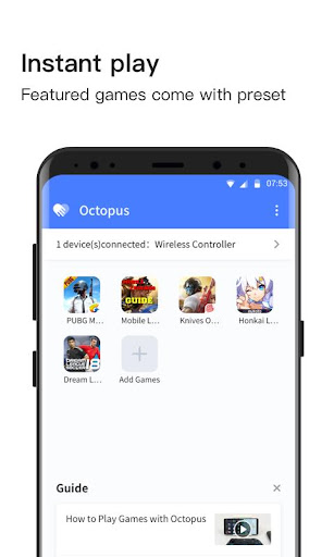 Octopus -  Play games with gamepad,mouse,keyboard 3.3.0 screenshots 1
