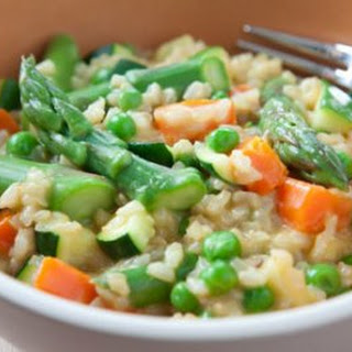 Brown Rice Spring Vegetable Risotto Recipe