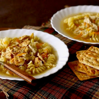 Homemade Chicken Noodle Soup with Nutmeg