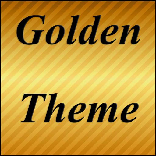 个人化のゴールドシャインのテーマGOランチャー LOGO-記事Game