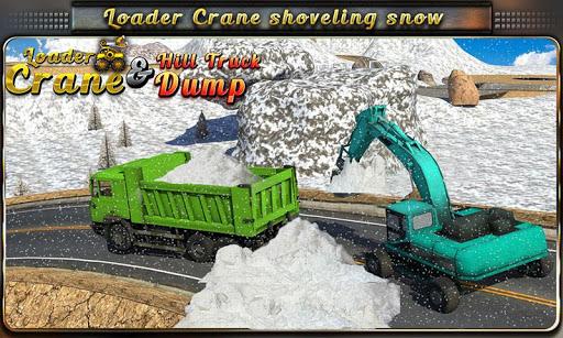 Loader Crane Hill Truck Dump