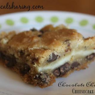 Chocolate Chip Cookie Cheesecake Bars #Choctoberfest