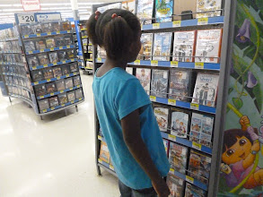 Photo: She loves Diary of a Wimpy Kid, but we'll have to wait a few weeks until I get paid again.