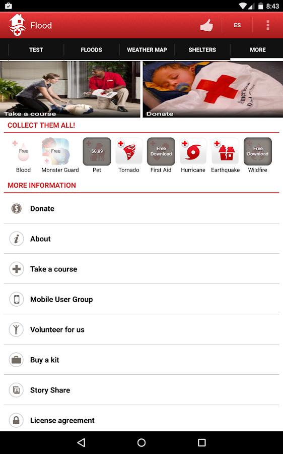 Flood - American Red Cross- screenshot