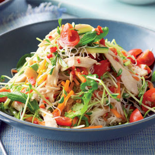 Sweet Chilli Chicken And Noodle Salad.