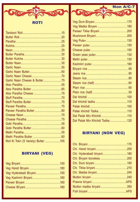 Sai Pooja menu 5