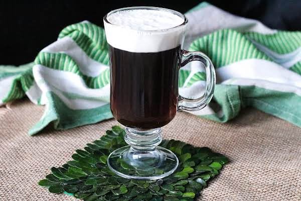 Authentic Irish Coffee Ready To Be Enjoyed.