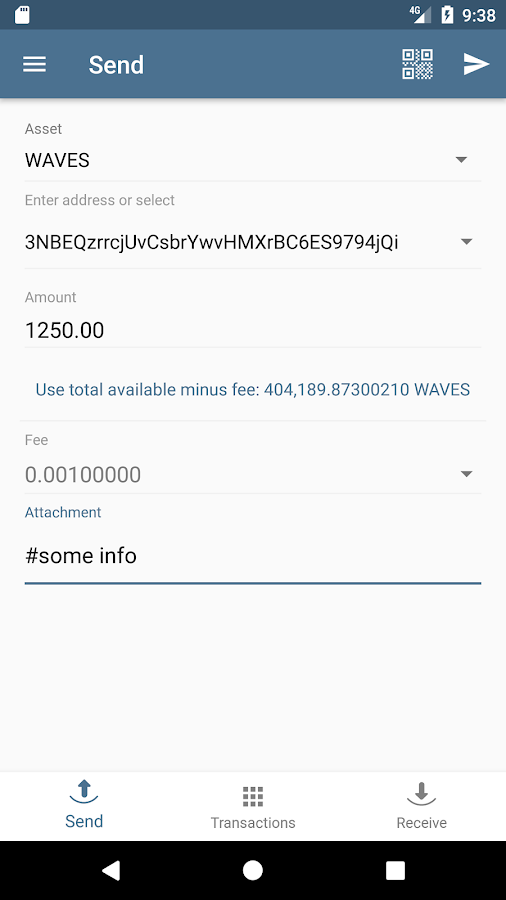 Waves Wallet- screenshot