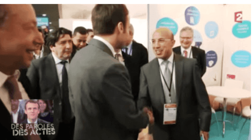 Le Président Emmanuel Macron félicite M.Khadiri