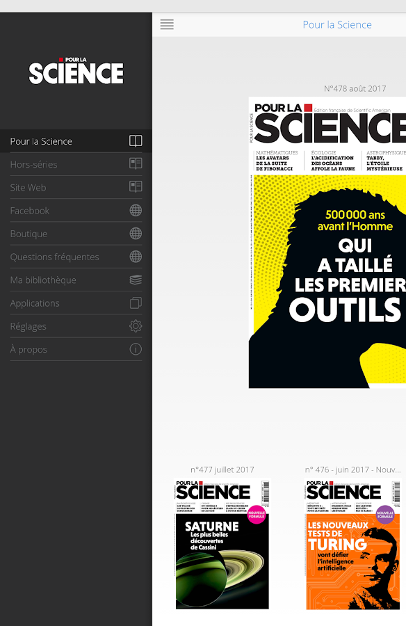 Pour la Science- screenshot