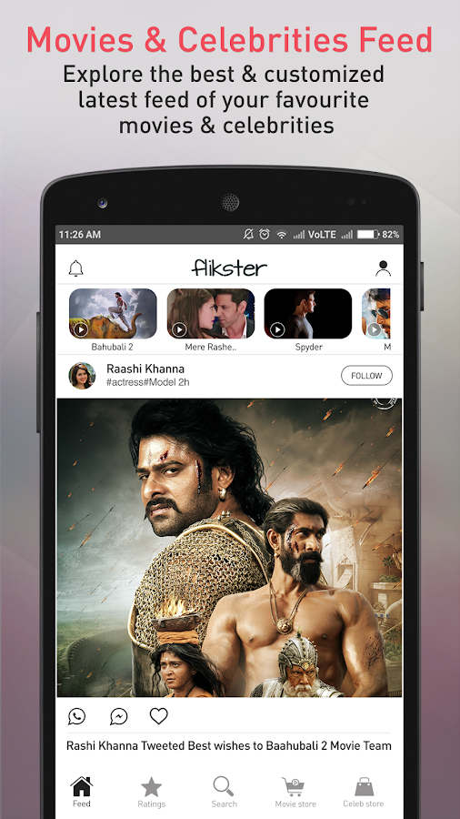 Flikster - Movies & Fashion- screenshot
