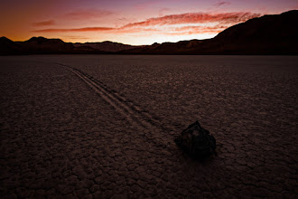 Photo: Racing Along  Sunset at the Racetrack was no day at the races. These suckers don't even move. Ha. There is part of me that hopes nobody ever figures out how these rocks move along the floor of this playa. The mystery adds so much to the interest of this area in Death Valley.  #dvonewaytrip13