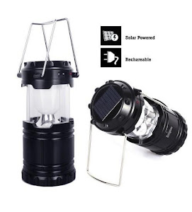 Lampa solara reincarcabila tip felinar cu functie de baterie externa