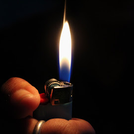 Don't Burn Yourself by Xochilt Khoury - Novices Only Objects & Still Life ( aesthetic, dark, lighter, light, flame )
