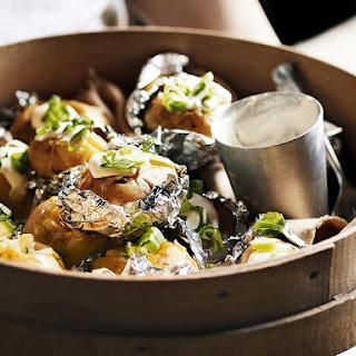 Potatoes with Green Onion and Horseradish Cream