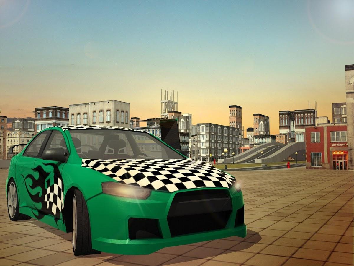 free flying racing car driving screenshot