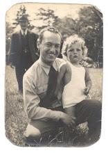 Photo: Dad was taken with this little boy.  Look what a cutie my dad was!  Around 1945.