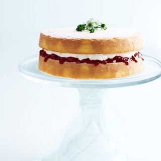 Classic Sponge Cake With Jam And Cream