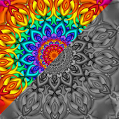 Mandala Sandbox Color By Number Book Pixel Art