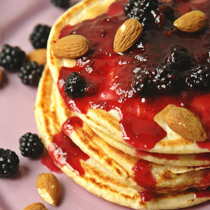Whole Wheat Buttermilk and Blackberry Pancakes Recipe
