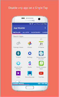 App Disabler (Samsung) Screenshot