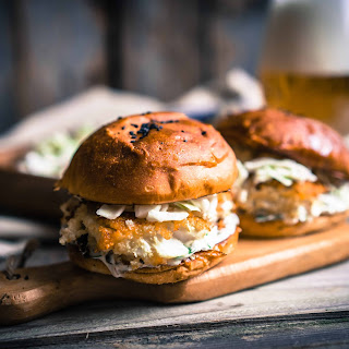 Asian Burgers with Spicy Coleslaw Recipe
