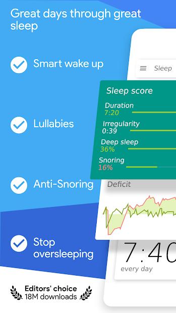 Sleep as Android Unlock 💤 Sleep cycle smart alarm Android App Screenshot