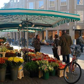 Flower stall by Ivelina Angelova - City,  Street & Park  Markets & Shops ( shop, stall, stand, markets, outdoor, street, flowers, flower, pwcmarkets, city )