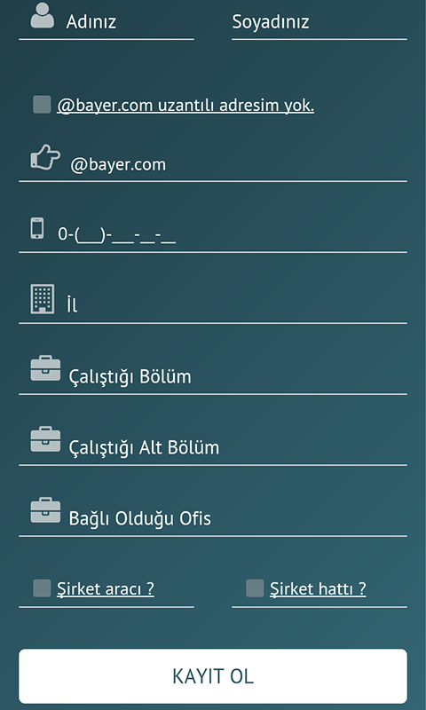 Bayer Turkei- screenshot