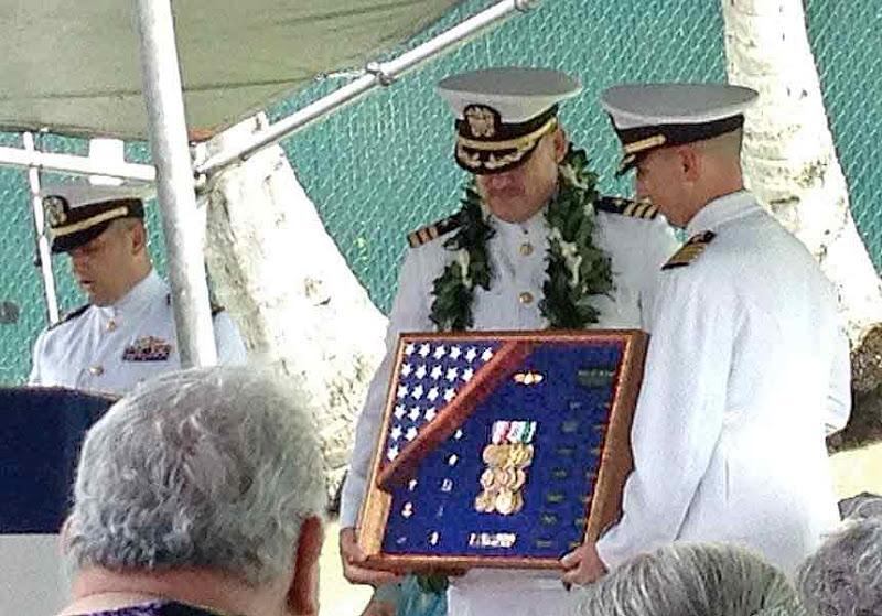 Photo: SailorBlue's USN Retirement Ceremony. Compacflt Boathouse, Pearl Harbor. February 22, 2013.  Photo by LizKauai.