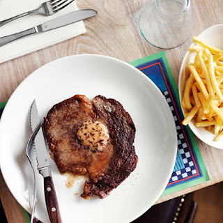 Minute Steaks with Red Wine Butter Recipe