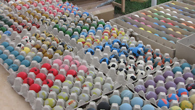 Photo: Thousands of balls will be sold at the WC in Stockholm this year. Photo: Hans Bergström