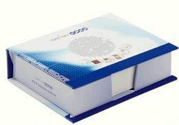 Photo: 精裝盒式便條紙 內頁 9.8x7.2 cm 外盒 11.0x8.5 cm