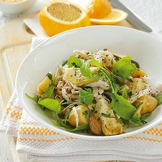 Poached Chicken And Artichoke Salad With Saffron Aioli.