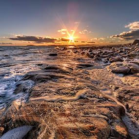 Sunstar by Bent Velling - Landscapes Sunsets & Sunrises ( water, sigma 12-24, canon 5d mkii, sea, sun, norway )