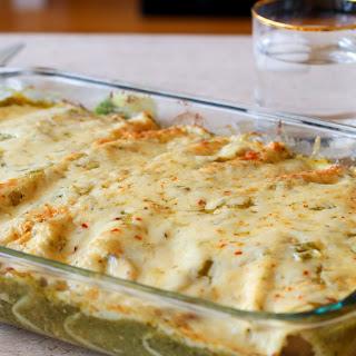 Jalapeno Havarti Enchiladas with Tomatillo Salsa