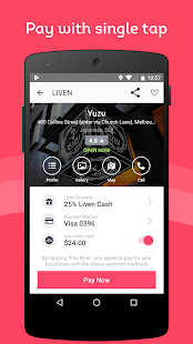 Liven - Restaurant Payment and Rewards- screenshot thumbnail