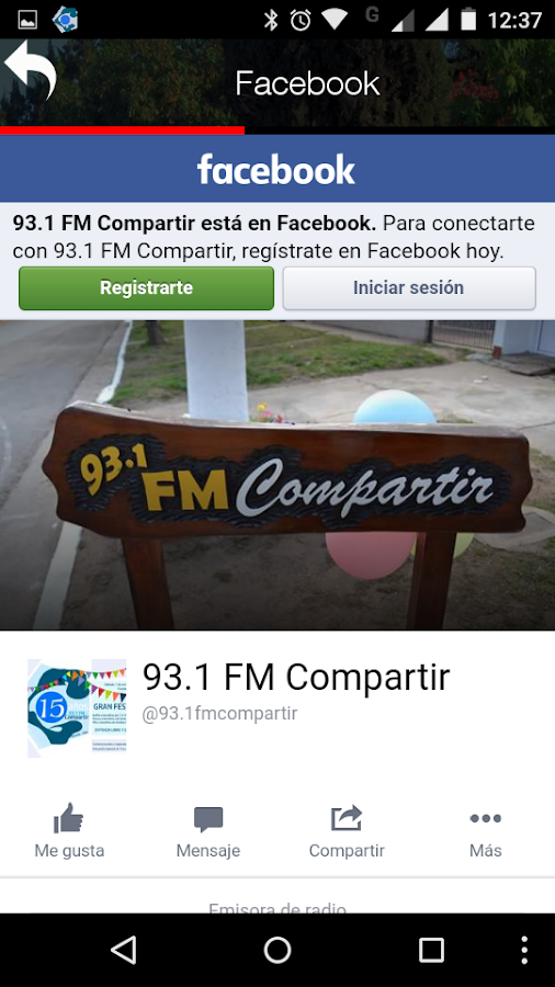 COMPARTIR Radio FM 93.1- screenshot
