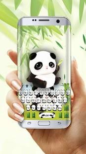 Lovely panda keyboard - náhled