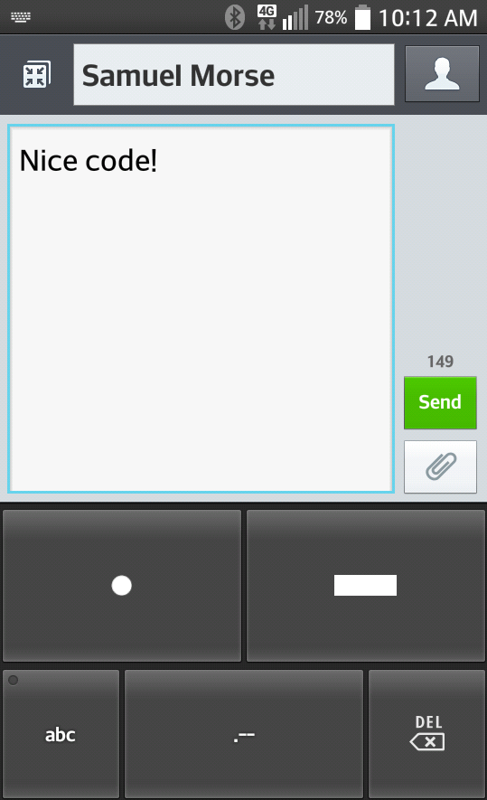 DotDash Keyboard- screenshot