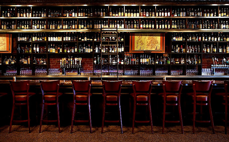View of the bar at Jack Rose.