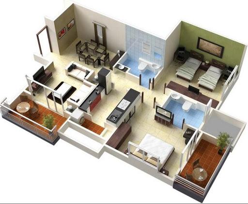 3Dホームプランデザイン