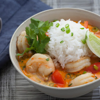 Thai Shrimp Soup with Coconut, Lemongrass & Red Curry