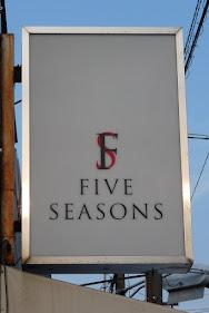 FIVE SEASONSの看板