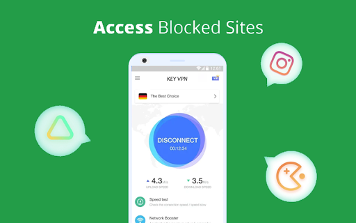 KEY VPN – A Fast , Unlimited, Free VPN Proxy 5.8 screenshots 5
