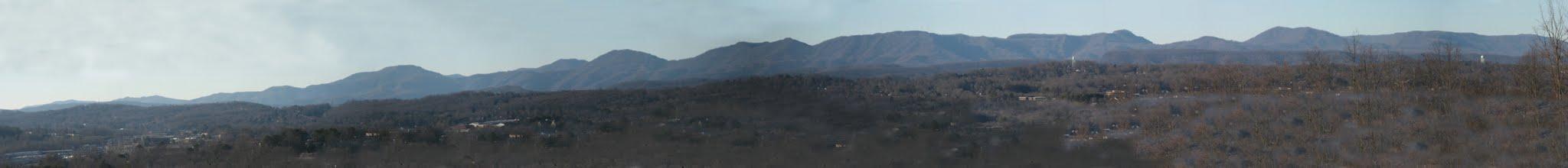 Photo: Cumberland Mountains from Oak Ridge Summit on Pine Ridge