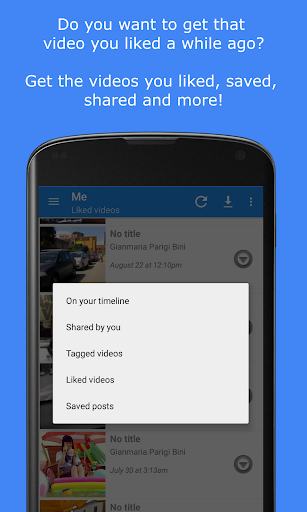 MyVideoDownloader for Facebook: download videos!  screenshots 3