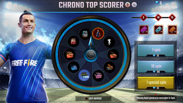 Spin Now! Chrono Top Scorer Event To Get Chrono Bundle - Online Games