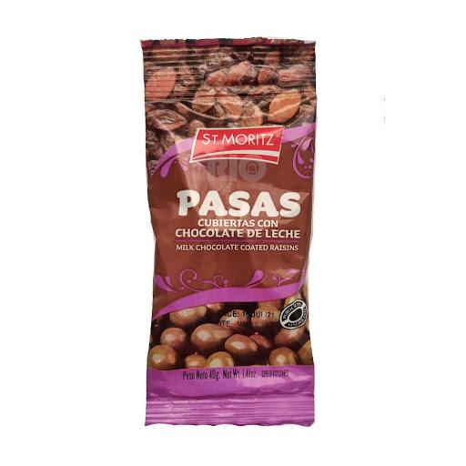 chocolate st moritz pasas con chocolate 40gr